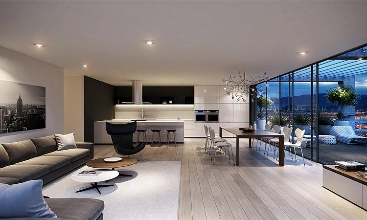 Modern családi ház építés